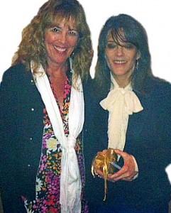 Elizabeth with author Marianne Williamson